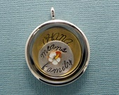 Ohana Means Family - A Floating Locket / Memory Locket / Living Locket