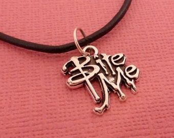 Bite Me Necklace - READY TO SHIP