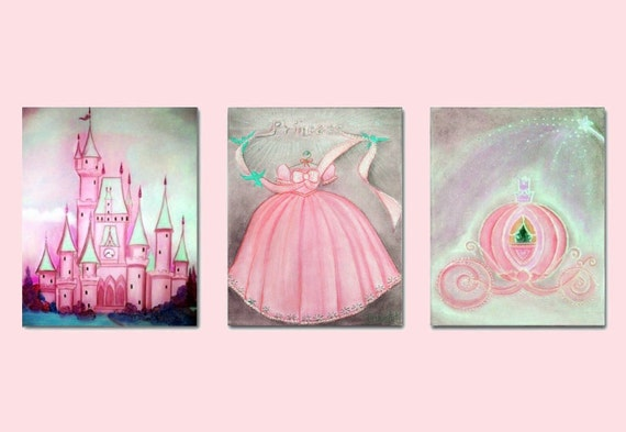 Princess Nursery Decor Nursery Prints Baby Girl By