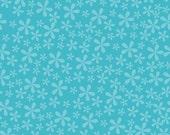 Spice Blooms in Blue 1/2 Yard Cut