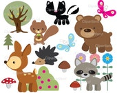 INSTANT DOWNLOAD Forest friends. Personal and commercial use.