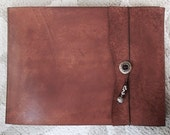 Leather Sketchbook, Refillable Sketchbook, Large, sketchbook cover - Cinnamon , Leather Journal, Drawing Pad, Photo  Album, Guest Book