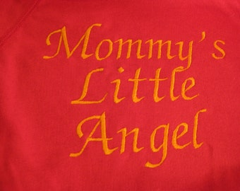 Embroidered size 3T Baby Sweatshirt in Cherry Red