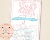 Printable DIY Fairy Tale Inspired Umbrella Bridal / Kitchen Shower Invitation Design