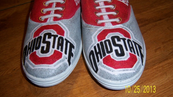 ohio state made to order bling bling tennis shoes