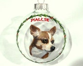 Chihuahua, Custom Pet Portrait, Dog Painting, Custom Ornament,Hand Painted Art, Pet Memorial, Dog Loss, Christmas Ball, Personalized Pet