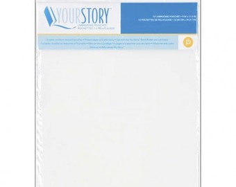 """YOUR STORY LAMINATING POUCHEs  - 12.5 x 12.5 """"   Pack of 12 Page Protectors - SCRaPBOOK PAGEs Clear"""