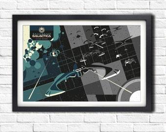 Battlestar Galactica - BSG Cylon - 3 of 4 - 19x13 Poster