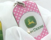 John Deere Decor, Dog Tag, Key Chain, Purse Charm, Collectors Piece
