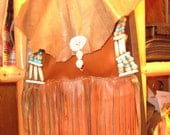 Beaded Leather Crossbody Bag, in rich glove leathers of Dark Chocolate and Autumn Earth Tones,Skulls,Hippie Gypsy,Native American inspired