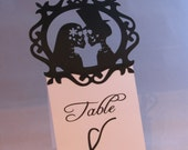 Romantic Gothic Wedding Table Cards - 10 Custom Made to Order