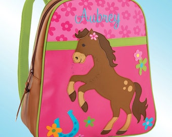 Backpack - Personalized and Embroidered - Go Go Bag - HORSE