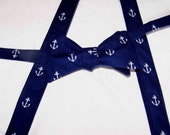 Suspenders Children - Little Guy Suspenders and bow tie set - Out to Sea by Sarah Jane - Boy's Bow Tie - pre-tied - Clip on - Ring Bearer