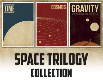 Space Trilogy Set of three posters