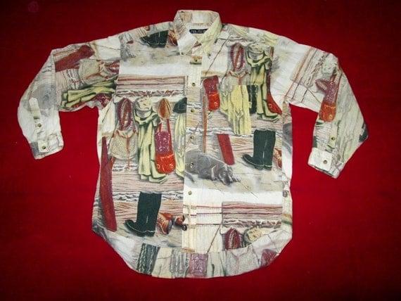 Vintage NAUTICA Outdoors Sportsman Shirt Original