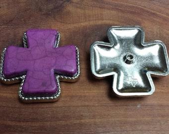 "2 Cross Conchos Purple 2"""