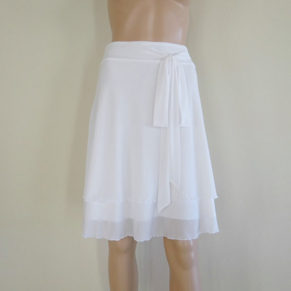 White Evening Skirt 50