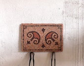mosaic geometric red, rose / stone mosaic outdoor mosaic / Roman mosaic inspired / La Olmeda / spanish mosaic / antique decor