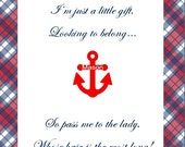 Baby Shower Game - Pass The Gift - Printable - Nautical