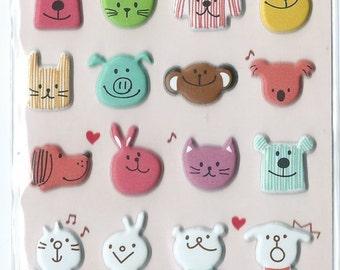 Japanese/ Korean Puffy Sticker- My Little Friends