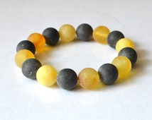 Amber Bracelet White Yellow Chocolate Brown Nature Woodland Inspired Natural Simple Bracelet