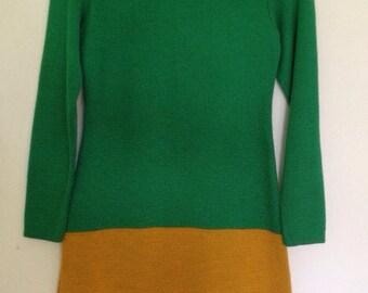 Super Mod Color Block Sweater Dress