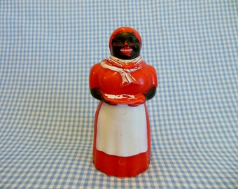 Original 1950's AUNT JEMIMA Red Plastic Cream/ Syrup Dispenser * F & F Mold and Die Works * Dayton, Ohio * Made in the United States