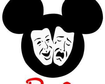 Disney Shirt Iron on Drama Custom Mickey or Minnie  Personalized  Transfer Decal(iron on transfer, not digital download)