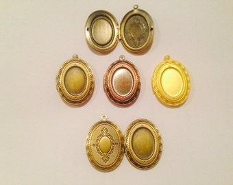 24x34mm oval metal locket pendant, 1 piece