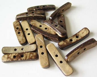 50 Coconut shell button toggle 26mm or 1 inch long