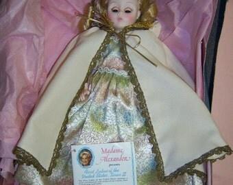 Madame Alexander Doll MARTHA Johnson PATTERSON First Ladies of the United States, Series III, Original Box