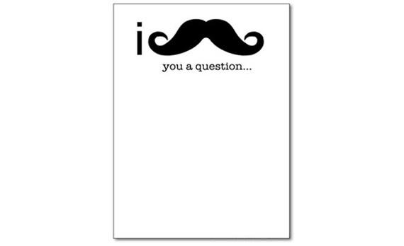 I Mustache You a Question Original Funny Notepad