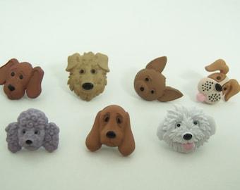 Dog Push Pins or Magnets