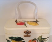 RESERVED SOY Vintage Annie Laurie Original Palm Beach Handbag Lucite Handles