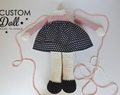 Hand Crocheted Custom Stuffed Doll - Soft Doll Softie Plush Doll Rag Doll - Made to Order