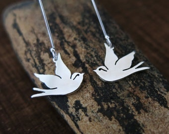 Swallow Earrings, Swallow Jewelry, Sailor Jerry Swallows, Swallow Tattoo