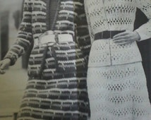 Two (2) Vintage Crocheted Women Suit Patterns