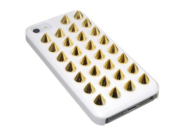 The Exile - White Case with Gold Studs
