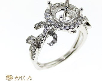 Beautiful 18k White gold with diamonds engagement ring .100-00065