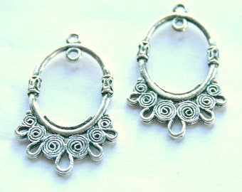 1 Pair of Tibetan Silver 1 to 5 Earring Connector/Links