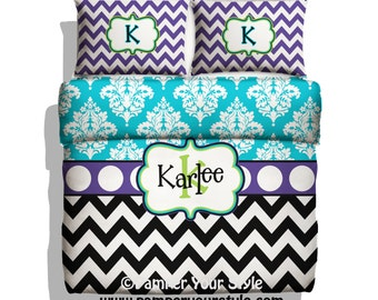 paisley and chevron daybed comforter or duvet turquoise