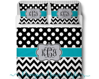 Interior Design Your Own Bedding design my own bedding twin queen king custom duvet designed polka dot and chevron teal black or comforter