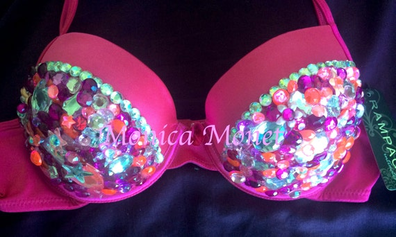 CLEARANCE SALE - Gorgeous Hot Pink Sexy Rave Bra