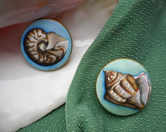 Handpainted Wooden Knobs, Aqua, Seashells, Mermaids, Beth Baker Artist, Whimsical Furniture, Home Decor, Hand Painted