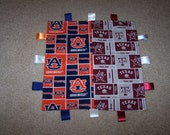 Mommy/Daddy House Divided baby ribbon teething blanket....you choose the 2 teams