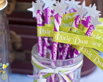 Pixie Dust Party Flags - printable file - PDF