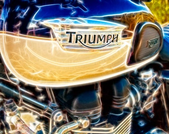 Motorcycle Triumph - Fine Art Photography Print Picture