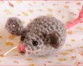 CUSTOM- Three small crocheted stuffed mice