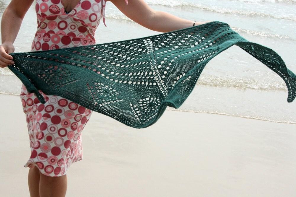 Lace Triangle Shawl Pattern Knitting Shawl Pattern PDF by ...