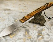 Magick Athame from Antique Wood for Ritual Work, ritual knife Magic dagger Pagan Wiccan dagger Wicca dagger
